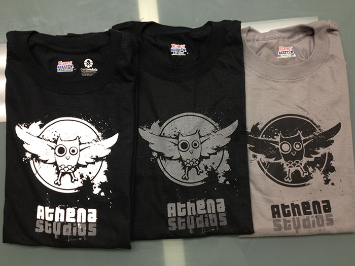 Athena Studios T-Shirts (pink not pictured)
