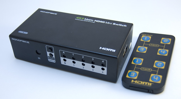 Optional HDMI Switch and Remote for Multiple Inputs and Easy Switching Between Consoles, TV, Blu-Ray or PC