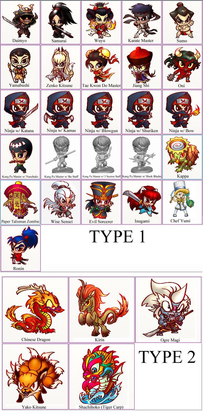 Kickstarter - Chibi Asian Adventurers Miniatures w/ Ninjas & 4c730dff09cd6edd2ef0a64d2f60bb22_large