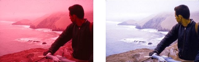 Each slide needed to be meticulously restored. (April 1960, just north of Lima, Peru)