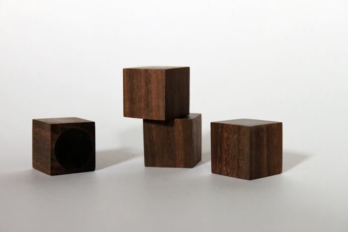 Walnut Wooden Magnets by Elijah Leed ($75 Level) Dimensions: 1 in sq. (set of 4)