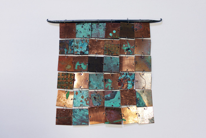 SOLD OUT- Metal Wall Hanging by Jackie MacLeod ($100 Level) Dimensions: appx. 12 in x 12 in