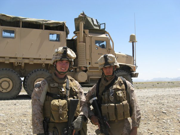 Our Director, Canty on the left and Doss, the producer on the right.  We were both 18 then on our first deployment.