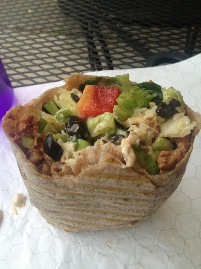 Any salad can be made into a wrap!