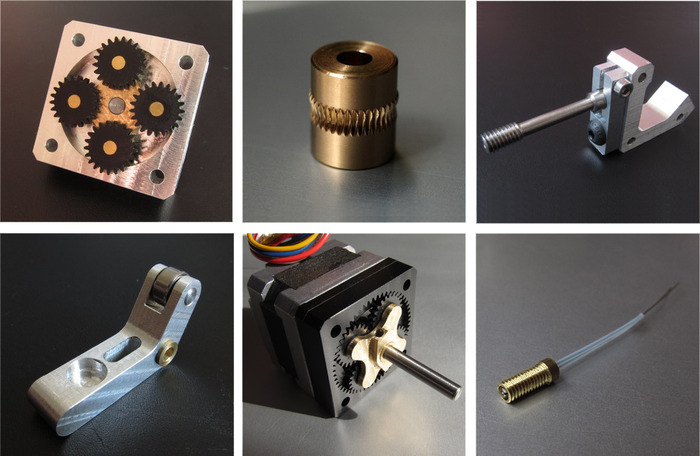 The custom parts of our LittleTitan-Filament Extruder