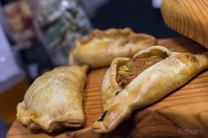 Javi's Cooking Argentine empanadas made at Kitchener Oakland