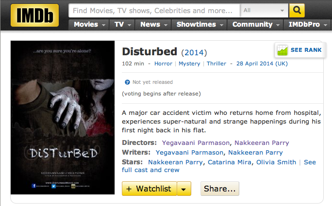 DiSTurBeD IMDB link