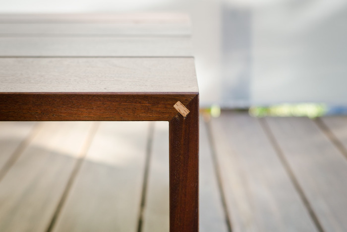 Attention to detail means the table can have a minimalist form, while being sturdy.