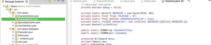 A snippet of code from our Java client