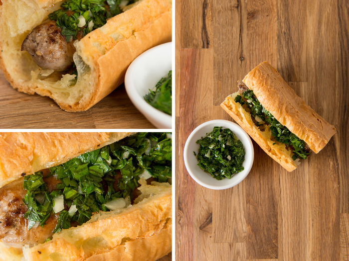 Sweet Italian Sausage with Garlic & Parsley Chimichurri