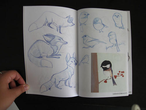 Sample Page from the 2009 Sketchbook