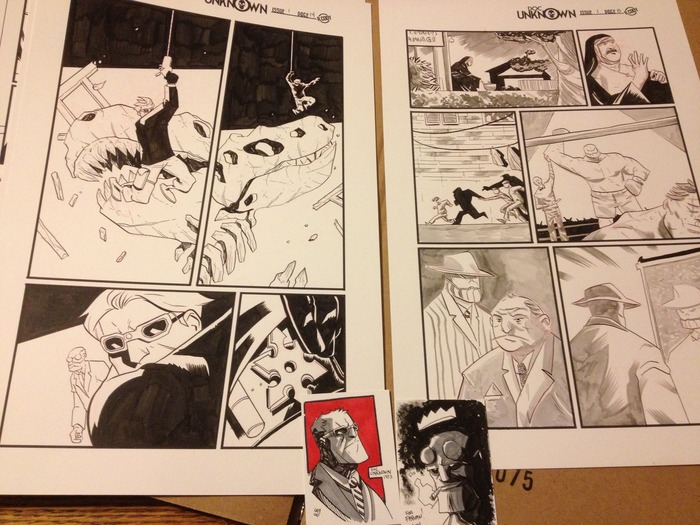 ORIGINAL ART REWARDS! Original pages, sketch cards and even COVERS!