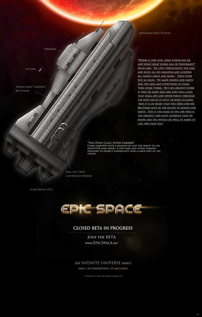 The Odin - Click for larger image. Pledge now to captain this Ship ---->