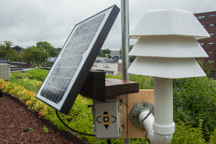 An open-hardware weather station