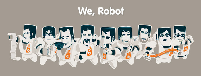 The Chopping Block team as robots (2006)