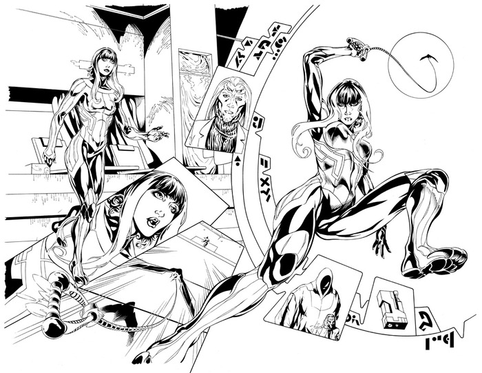 PAGES 4 & 5. Pencils by Don Walker, inks by Larry Welch.