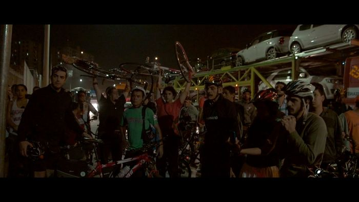 Activists in car-booming São Paulo honor a killed bicyclist with a ghostbike.