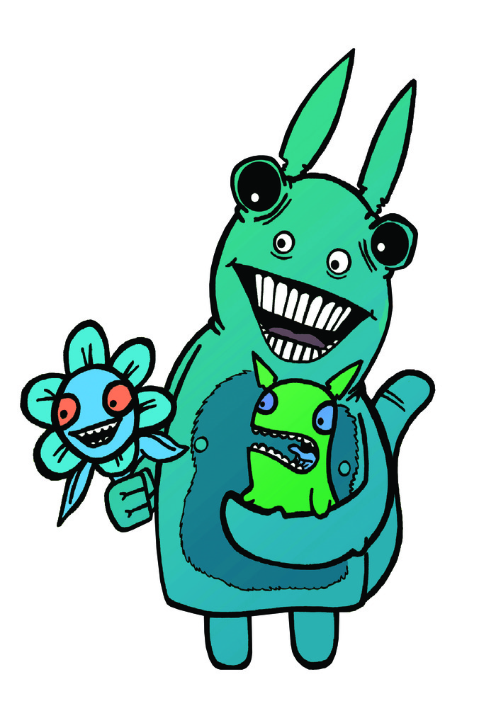 This is Griggle, A Strange Creature from A Sweet Adventure (T shirts available within pledges, and as an added extra)