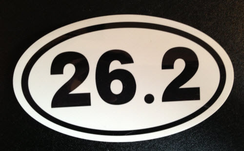 A 26.2 sticker for your car