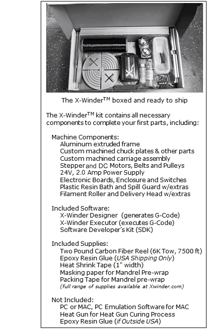 X-Winder Included Items List