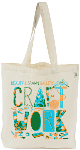 Hand silk screened, eco-friendly, fair labor tote from ecobags.com
