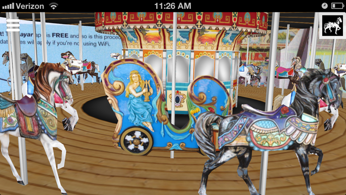 Detail shot of the augmented carousel