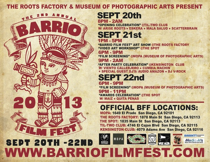 Barrio Film Festival Flyer