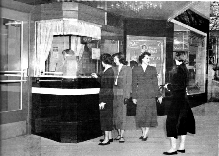 The Lewis Theatre Ticket Booth, Circa 1950
