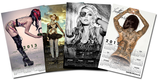 11x17 inch Calendar samples. OR a plain poster of just the image your choice with $15 and up