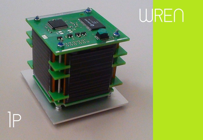 WREN: Produced by German startup STADOKO UG, this 1P PocketQube is one of the most advanced satellites of its class. It has 4 pulsed plasma thrusters, a 3 axis reaction wheel and a colour camera. NOT A REWARD.