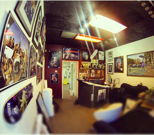 My front office at my studio in Arizona. Most of my photo shoots are created here.
