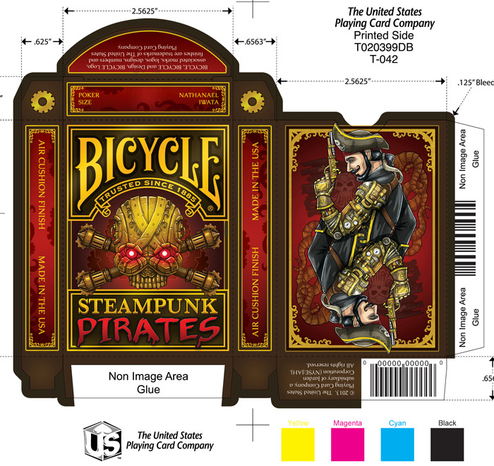 steampunk pirates bicycle playing cards printed by uspcc by nat iwata kickstarter. Black Bedroom Furniture Sets. Home Design Ideas