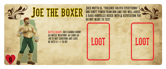 The character mat for Joe the Boxer - Character Art by Jorell Scott