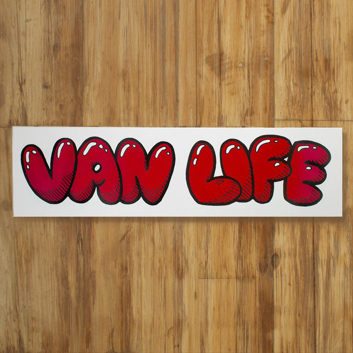 "Vanlife sticker available in 10"" and 3"" Wide"