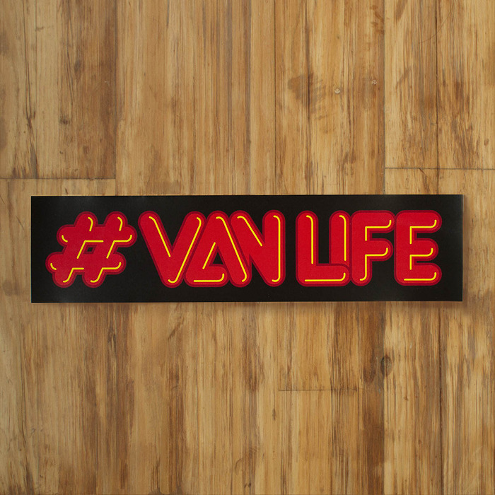 "Neon #vanlife, Available in 10"" and 3"" wide"