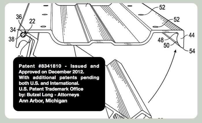 Patent 8,341,810 was approved from the U.S. Patent Office with international extended applications patents pending.