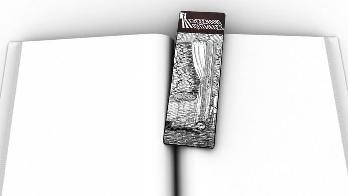 Example bookmark (the art is not final)