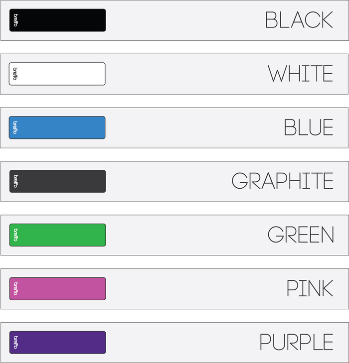 The range of colors we will be producing!