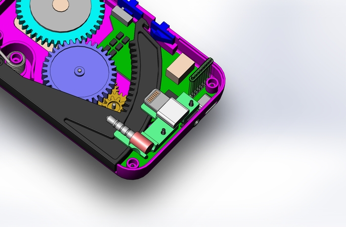CAD image of electronics