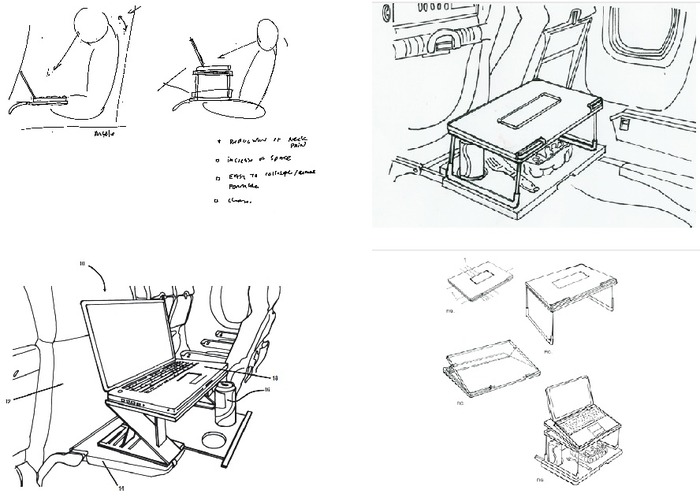 Aero-Tray sample of R&D drawings 2009-2012