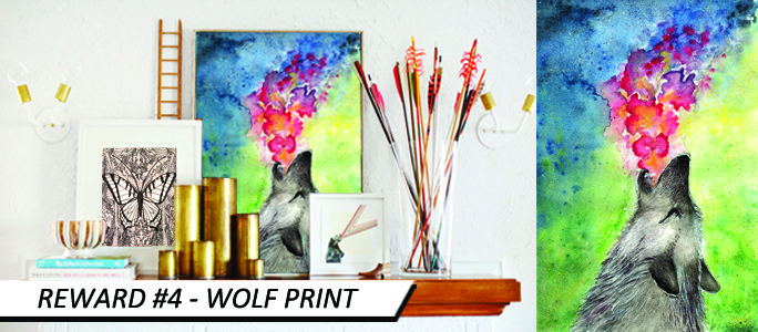 'Wolf' 2012 by Michelle Hébert - *not framed & sample image