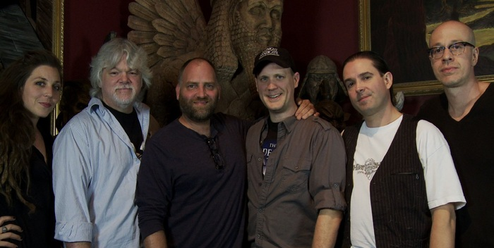 "Pictured (left to right): Beki Ingram, Gary Jones, Robert Kurtzman, Edward Douglas, Gavin Goszka, David ""House"" Greathouse"