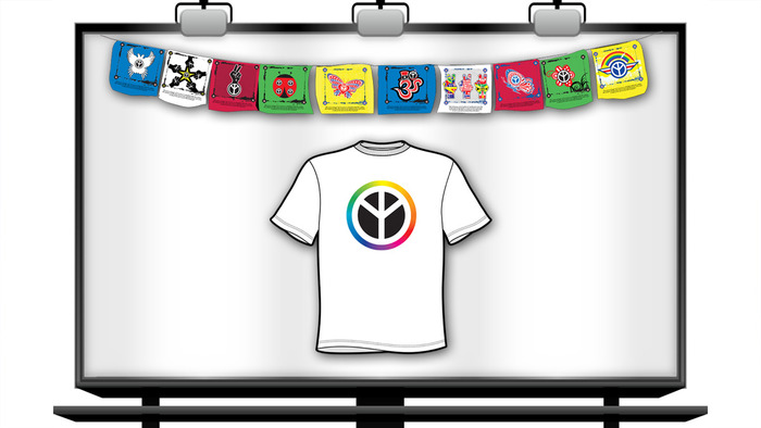 Peace Up Prayer Flags + T-shirt
