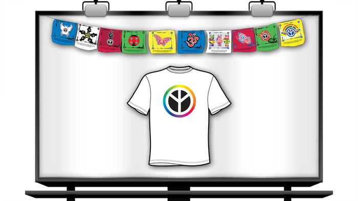 Peace Up Prayer Flags + T-shirt
