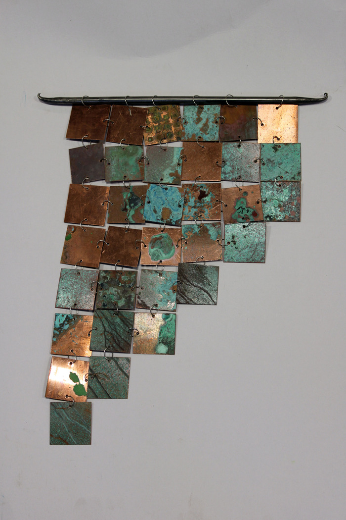 Metal Wall Hanging by Jackie MacLeod ($150 Level) Dimensions: appx. 12 in x 15 in