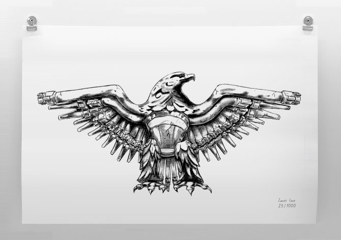 Italian Eagle Limited Edition Print