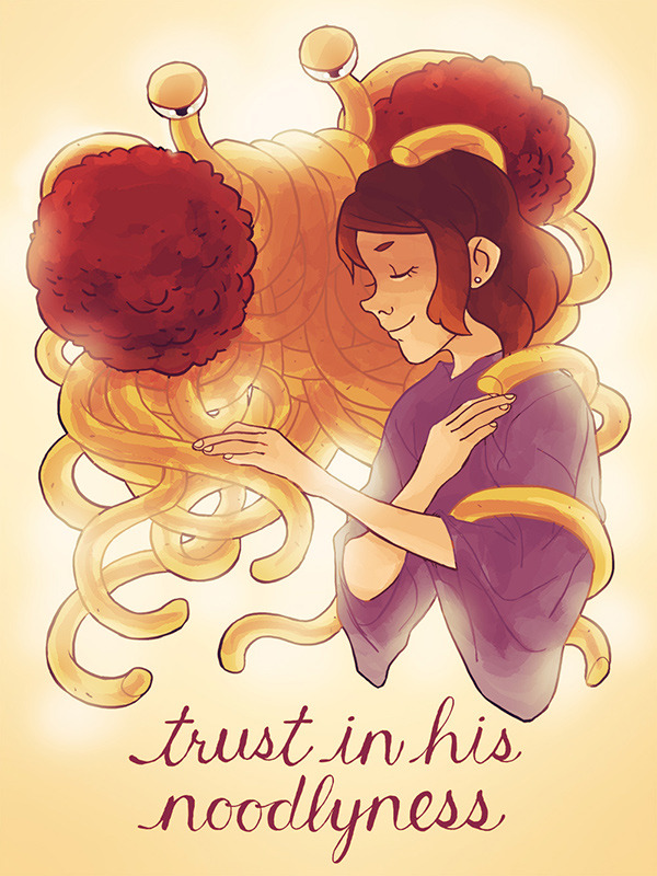 """trust in his noodliness"" by Janet Sung @kuru731"