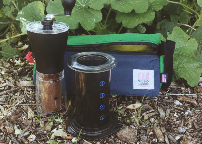 COFFEE CAMPER PACKAGE - Topo bag may be different colors / KeepCup (below) & bag of beans not pictured