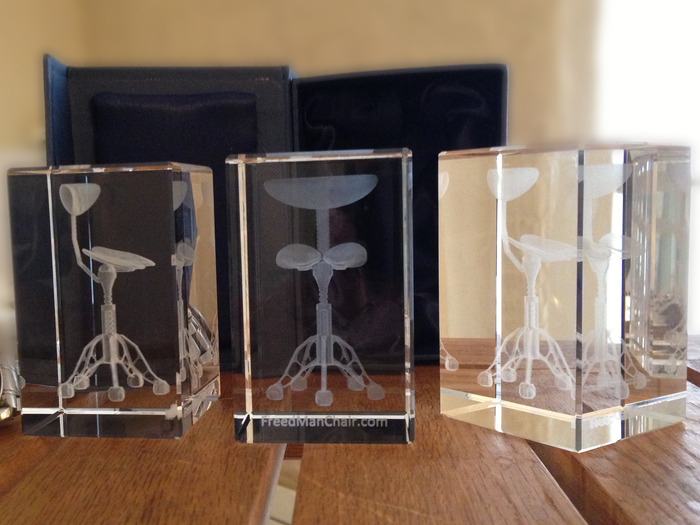 LASER-ETCHED, CRYSTAL GLASS MODEL