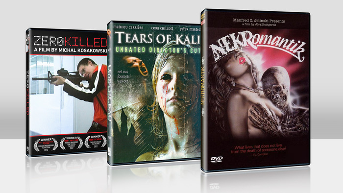 $50 each - DVD's signed by the directors - ZERO KILLED, TEARS OF KALI & NEKROMANTIK